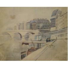 Catul BOGDAN (1897-1978) - Vedere pe Sena