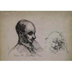 Jean Alexandru STERIADI (1880-1956) - Portret de barbat (studiu)