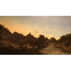 Scoala franceza (1880, semnatura indescifrabila) - Crepuscul