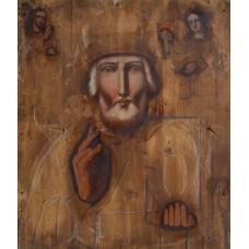 Icoana lemn fara ferecatura (Scoala romaneasca) - Sfantul Nicolae